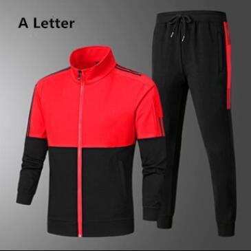 2020 de Moda de Nova Fatos Para Mens Sportswear Com Letras Outono Treino manga comprida Jogger Casual terno de calças Roupa 3 cores