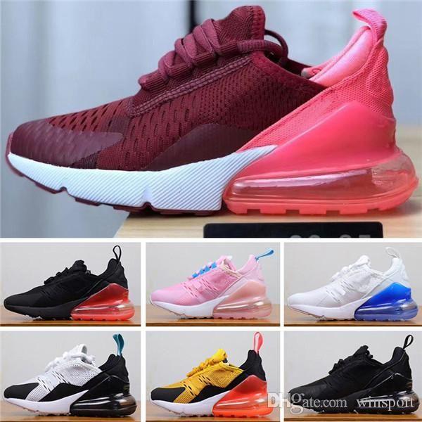 2019 niños zapatos atléticos para niños zapatos de baloncesto 27c 270S lobo gris del niño 270 Sport zapatillas de deporte de la muchacha del muchacho del niño Chaussures Pour Enfant