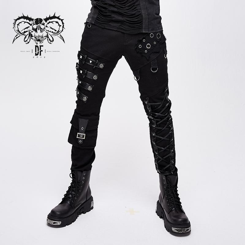 Devil Fashion Men's Punk Personality Trousers Streetwear Fashion Slim Fit Pencil Pants