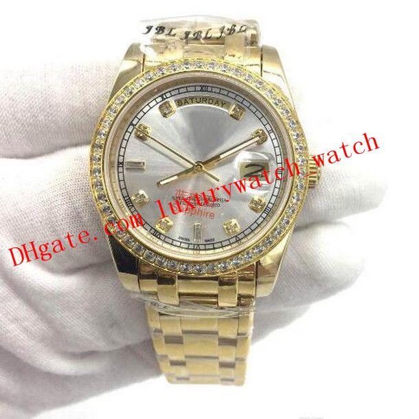 Best Editio 6 스타일 럭셔리 시계 망 골드 다이얼 다이아몬드 베젤 118348 218206 시계 가슴 41mm 자동 패션 남자 시계 손목 시계