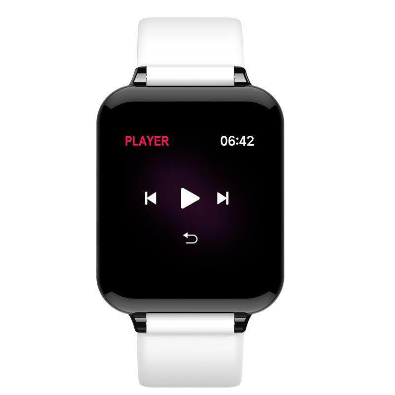 B57 Hombres Mujeres rastreador de ejercicios inteligente relojes impermeable del deporte para el teléfono Android IOS funciones de la presión SmartWatch monitor de frecuencia cardiaca de sangre