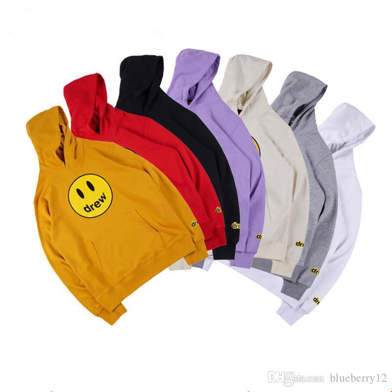 Für Männer und Frauen Hoodies Drew Haus Lächeln Printing Langarm-Kapuzenshirt Art-Winter Hoodies asiatische Größe S-XL