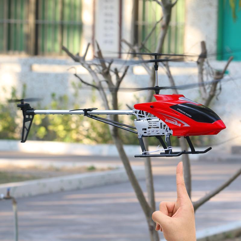 3.5CH 80cm ekstra Büyük uzaktan kumanda uçak dayanıklı rc helikopter şarj oyuncak drone modeli İHA açık uçak helikopter