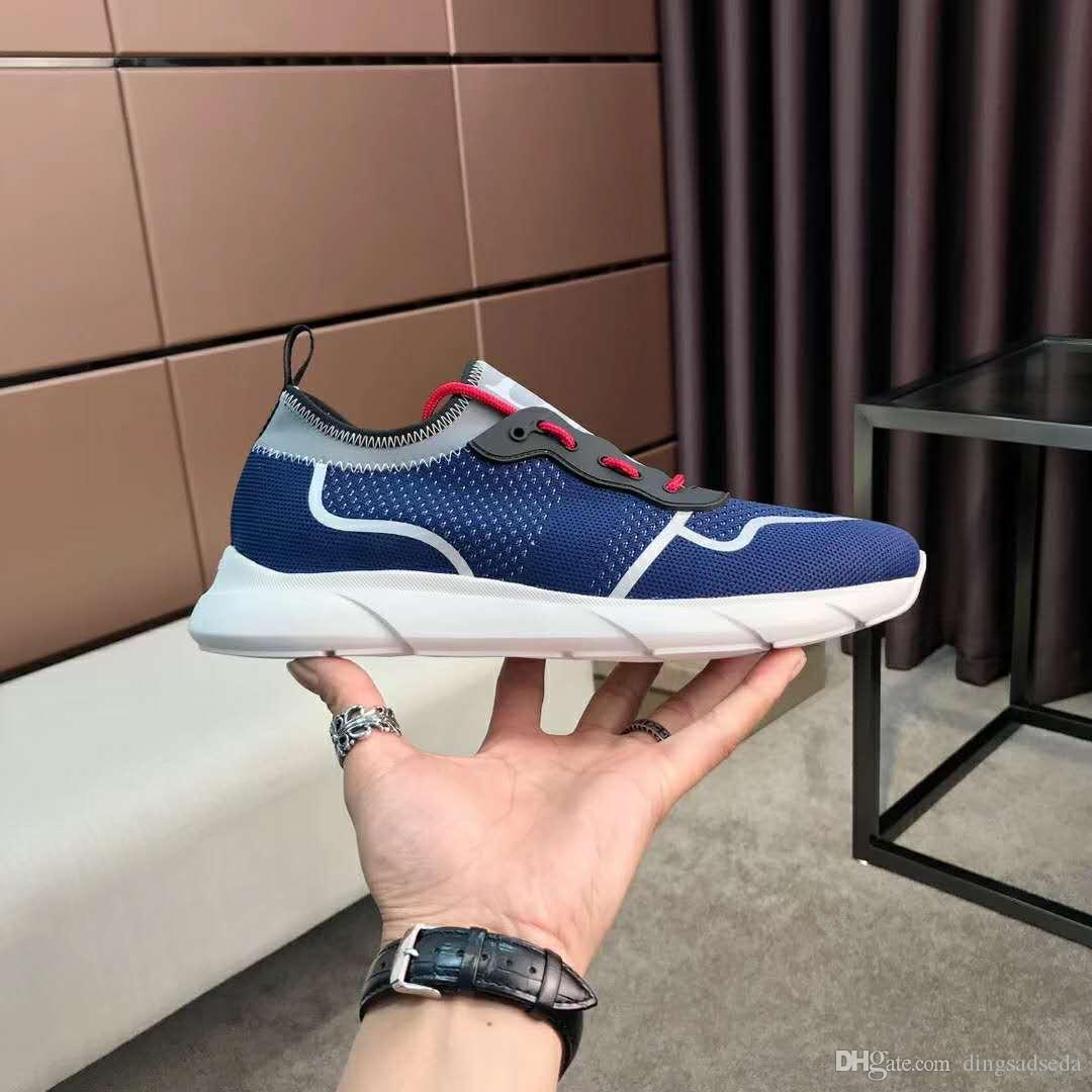 2020 moda de alta qualidade Homens Mulheres Low-top sapatos Lace Up malha sapatilha Ao Ar Livre Corrida Runner calçados casuais grande tamanho 38-44 HT19