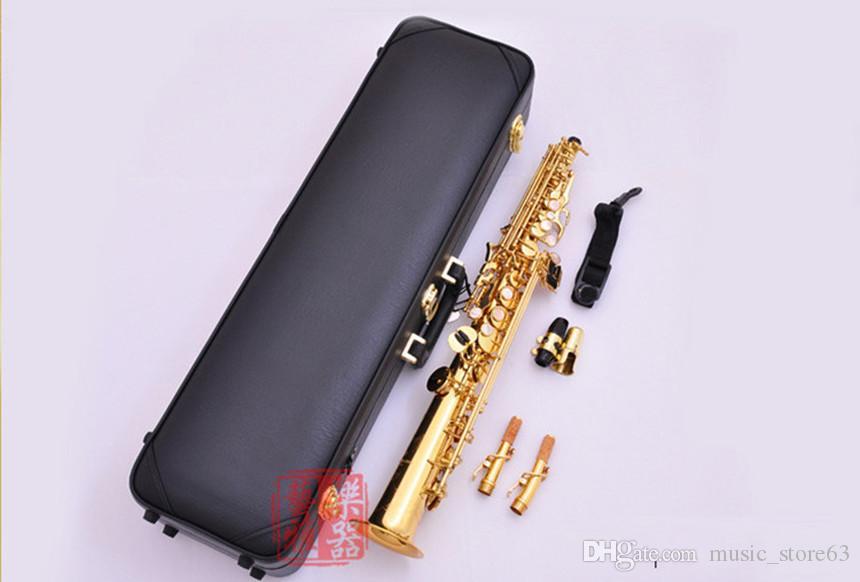 اليابان ياناجيساوا سوبرانو ساكسفون مفتاح S991 صك B شقة Musicl الذهبي سوبرانو ساكس مع حالة الشحن مجانا