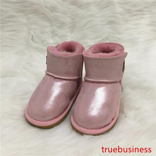 дизайнерские сапоги мальчики и девочки австралийский стиль теплые нескользящие сапоги 100% Slip-on children ug snow boots брендовая дизайнерская обувь кожаный ботинок