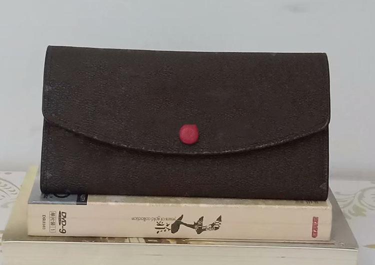 Freier Shpping Großhandel Rot grundiert Dame Long Wallte Multicolor Designer Geldbörse Kartenhalter Original Kasten Frauen klassische Tasche mit Reißverschluss