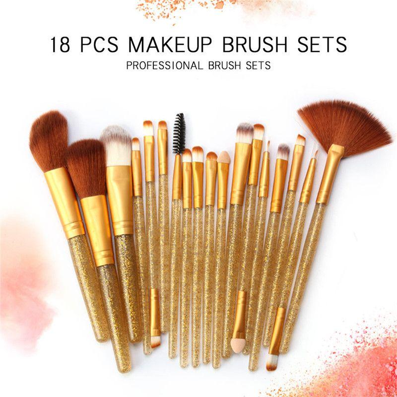 18 Pcs Professional Makeup Brushes Set Comestic Powder Foundation Blush Eyeshadow Eyeliner Lip Make up Brush Tools