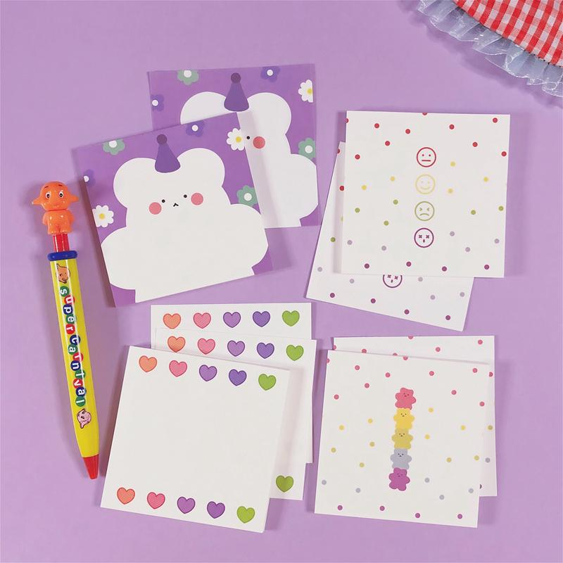 50 памятников Канцтовары Корейский Kawaii Notes Daily Daily Notepad Sticky School Diy Pad Soft Girl Past Lies Tafrf