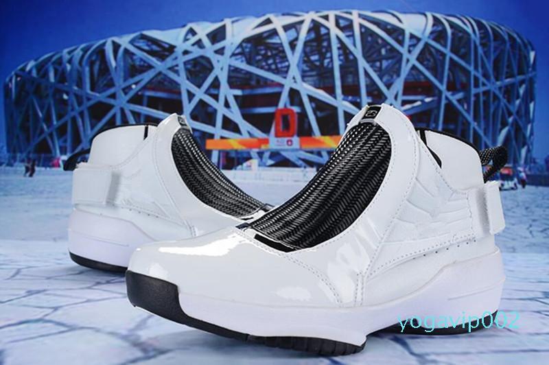 2020 nuevo mejor calidad de hombre zapatos de baloncesto en blanco y negro del maestro GS barones del lobo gris del juego de playoffs de la gripe de taxi francés zapatillas de deporte Tamaño US7-US13