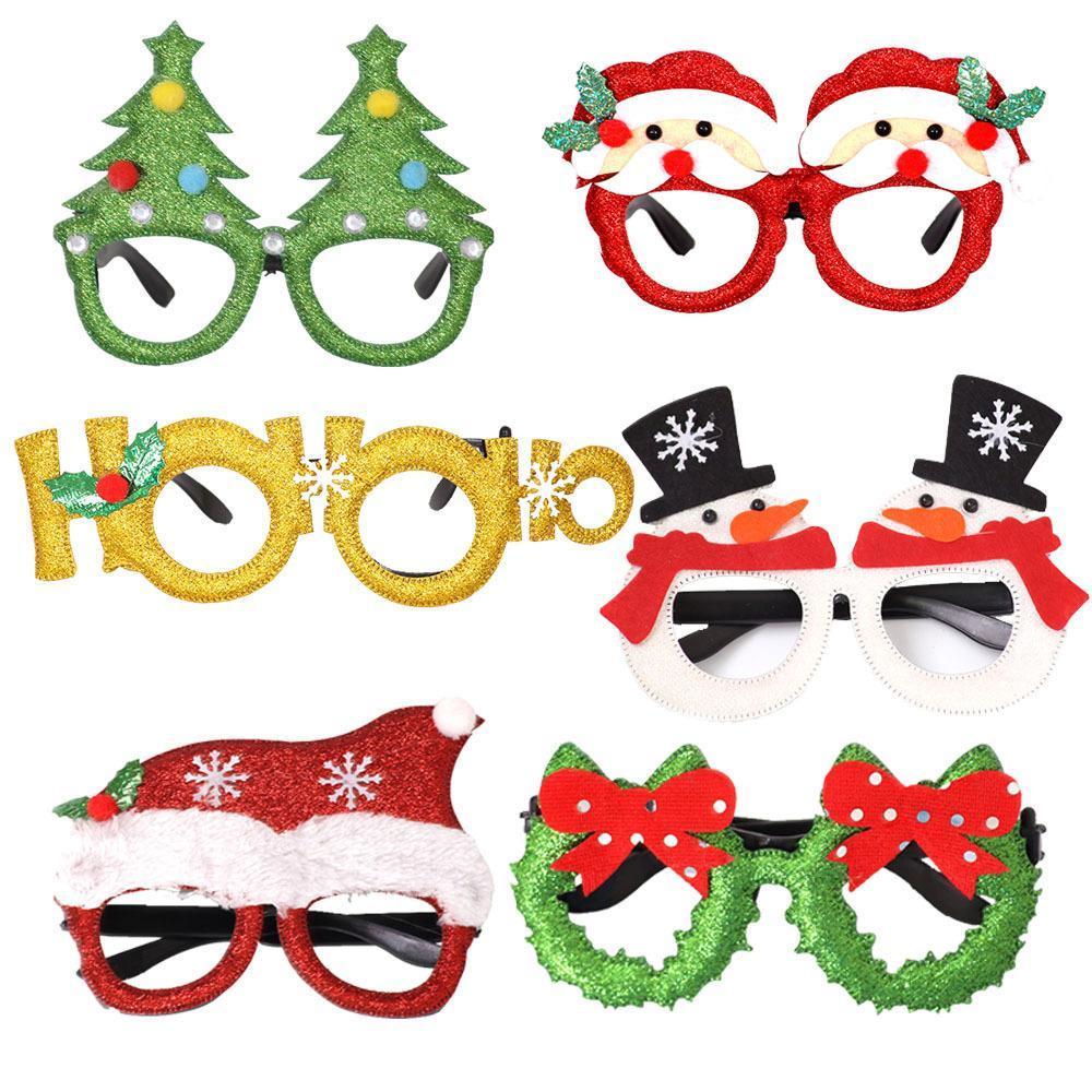 Festa de Natal 10Styles óculos Decoração Brinquedos Papai Noel Boneco Óculos Xmas Detalhes no FFA2859-1 partido presente favor