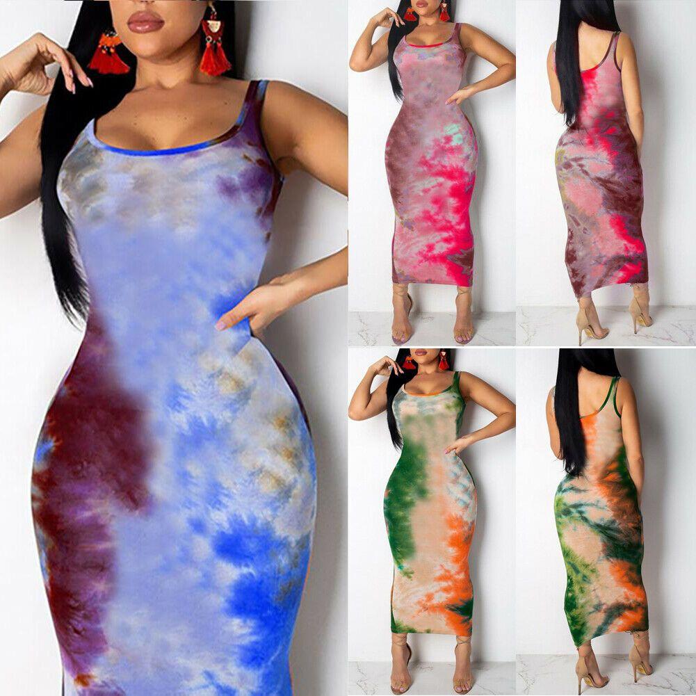 여성 낙서 슬림 맞는 드레스 숙 녀 여자 boho long maxi dresses 이브닝 파티 해변 바디 콘 드레스 sundress