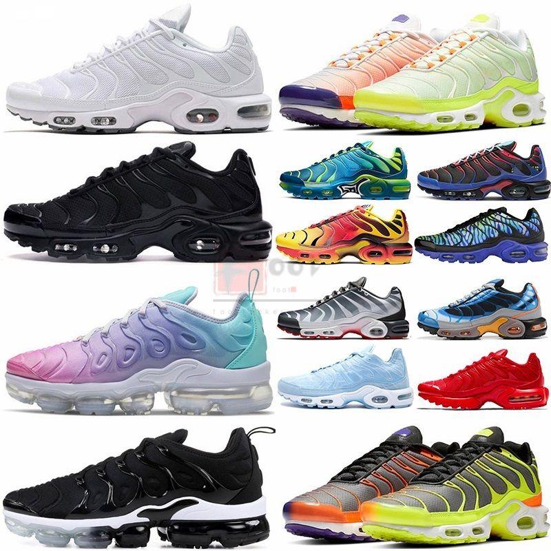 Buhar Yastık TN Artı Se Üçlü Siyah Beyaz Medyum Mavi Deluxe Gözlük buharı Eğitmenler Erkekler Kadınlar Maxess Spor Sneakers Ayakkabı Koşu