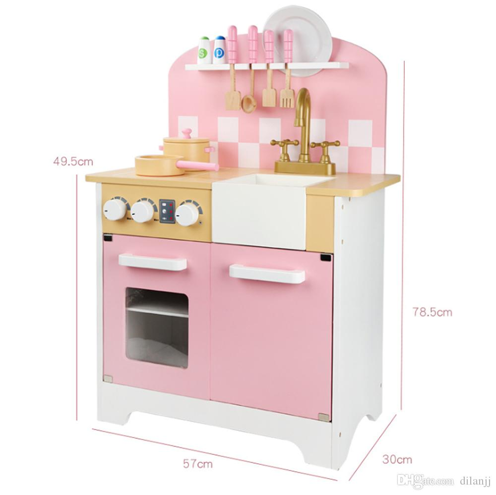 2019 2019 Pink Wooden Kids Kitchen Play Set Toy Girls Pretend Playing  Educational Simulate Sink, Faucet,Pot And Tools From Dilanjj, $99.05 | ...