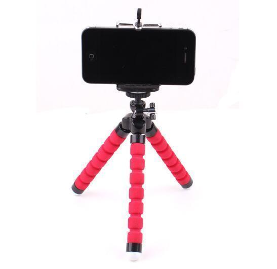 iphone 6 7 8 artı akıllı telefon için Mini Esnek Kamera Telefon Tutucu Esnek Ahtapot Tripod Parantez Standı Tutucu Dağı Monopod