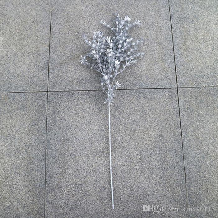 Yeni Gümüş Yapay Çiçekler Gül Ipek Çiçekler Oturma Odası Ev Dekorasyon Çiçek Duvar Düğün Dekorasyon Gelin Buketi Gerçek Dokunmatik