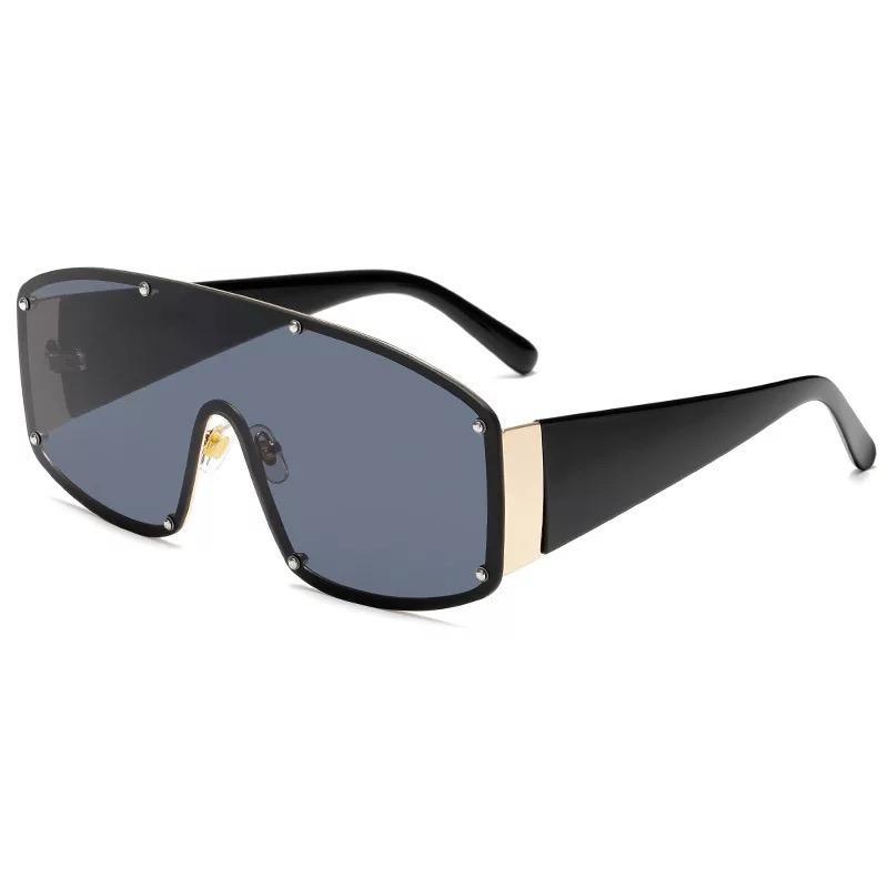 Gli uomini delle donne oversize Strass Occhiali da sole specchio piano della struttura del metallo retro vetri di colore unisex Sungalsses Outdoor Eyewear ES2054