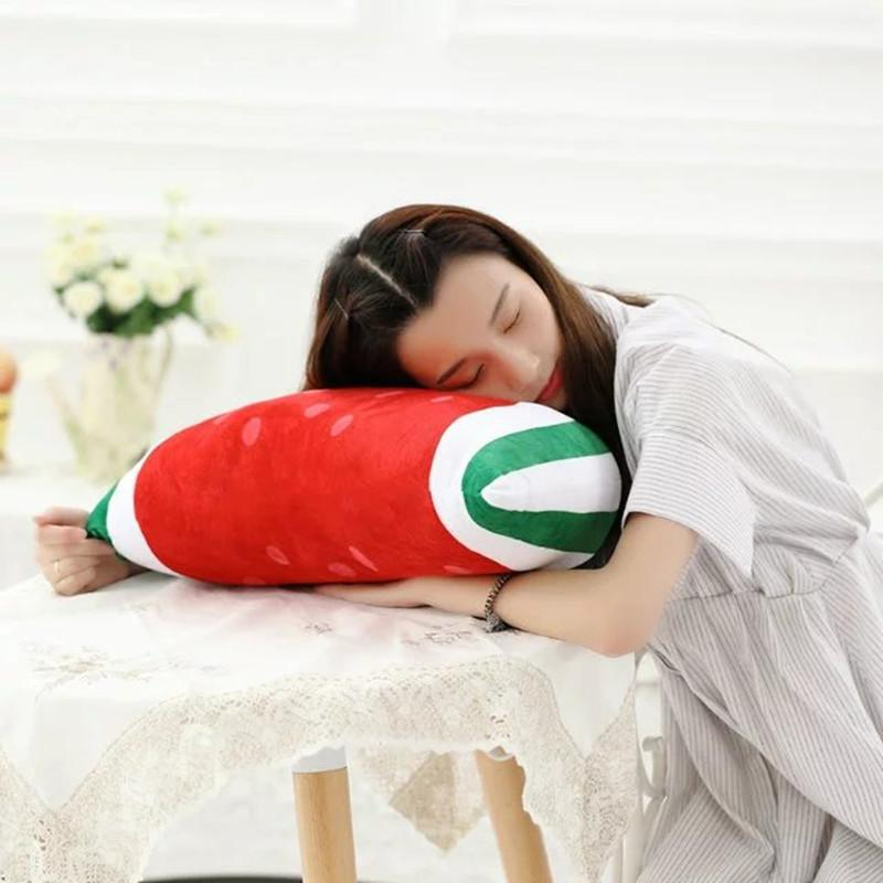 One Piece Super Soft Baby PP Cotton Stuffed Plush Cushion Fruit Series Lovely Sleeping Pillows Friends Birthday Presents 5 Style