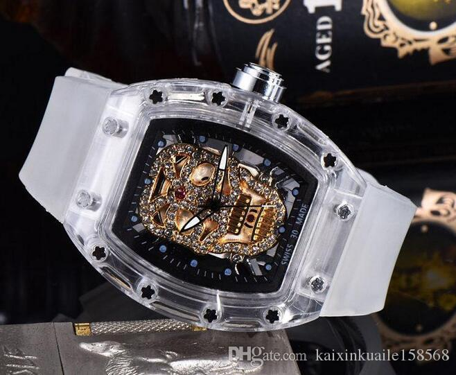 2020 New Skull sport Watches mene's or women Casual Fashion Skeleton quartz watch
