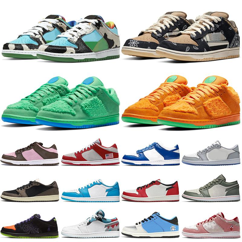 b23 sneakers nike sb dunk low air jordan retro 1 1s 2020 Neue Authentic Grateful Dead Bears Chunky Dunky Männer Frauen Trainer Low Dio Chicago VALENTINE DAY Skateboard Chaussures