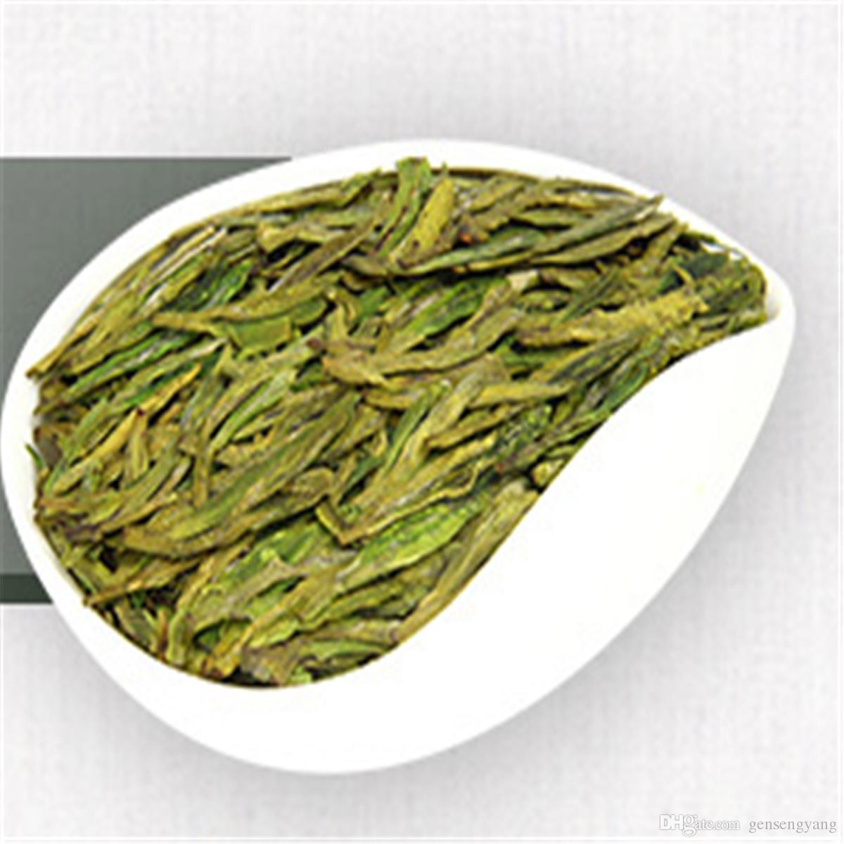 200g orgânico verde chá chinês Longjing Dragão bem 2g * 100 saquinho de chá-primas Saúde chá novo Spring Green Food Factory Direct Sales