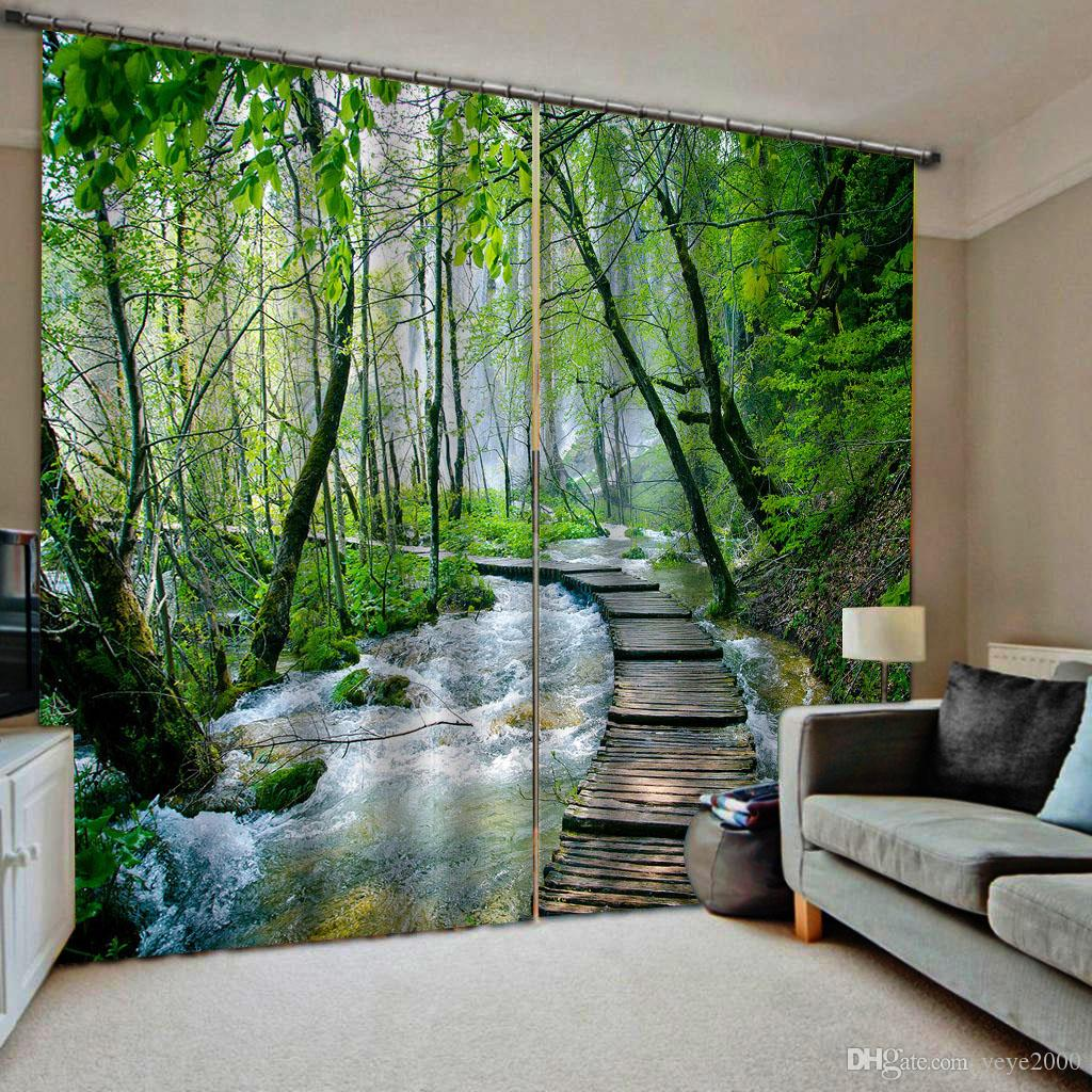 2019 Green Curtains Customized Size Luxury Blackout 3d Window Curtains For Living Room Forest Curtain From Yeye2000 199 0 Dhgate Com