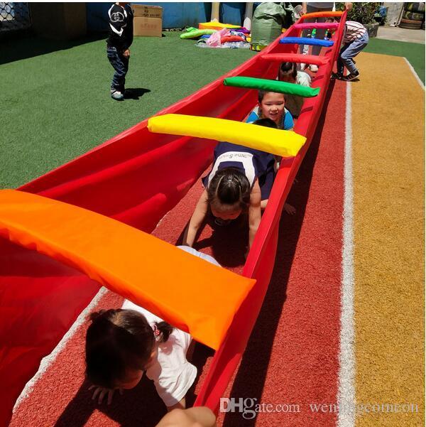 Rainbow Bridge Дети Дети Игры Сенсорное Обучение Вне игрушки Детский тимбилдинг Внеклассная 6M / 8M / 10M