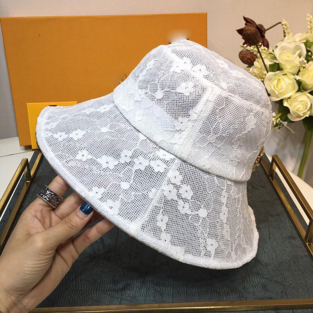 Dantel çiçek balıkçı şapka tasarımcısı eşarp kova şapka şapka beyzbol şapkası kap kadınlar lüks tasarımcı eşarplar ipek tasarımcı başörtü
