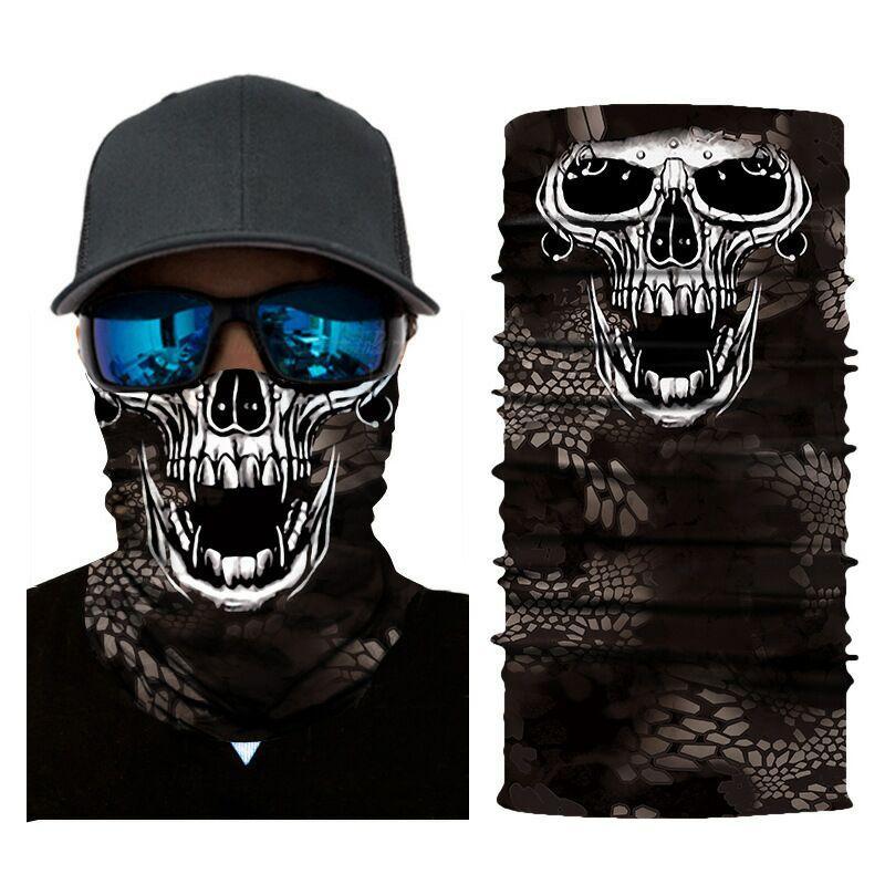 Balaclava Motociclista Santo Durag completa Protecção Facial Escudo Tático Skull Scarf Masque máscara de esqui de bicicleta Motor Militar Bandana
