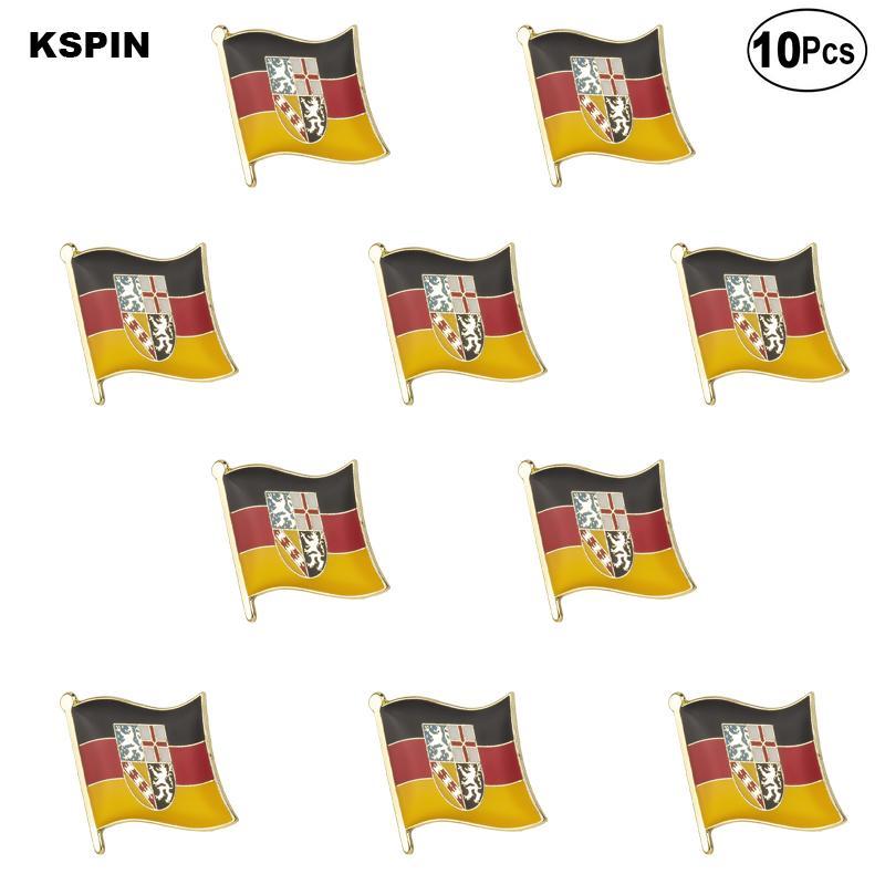 Саар Pin отворотом флага значок Брошь Pins Значки 10шт Лот