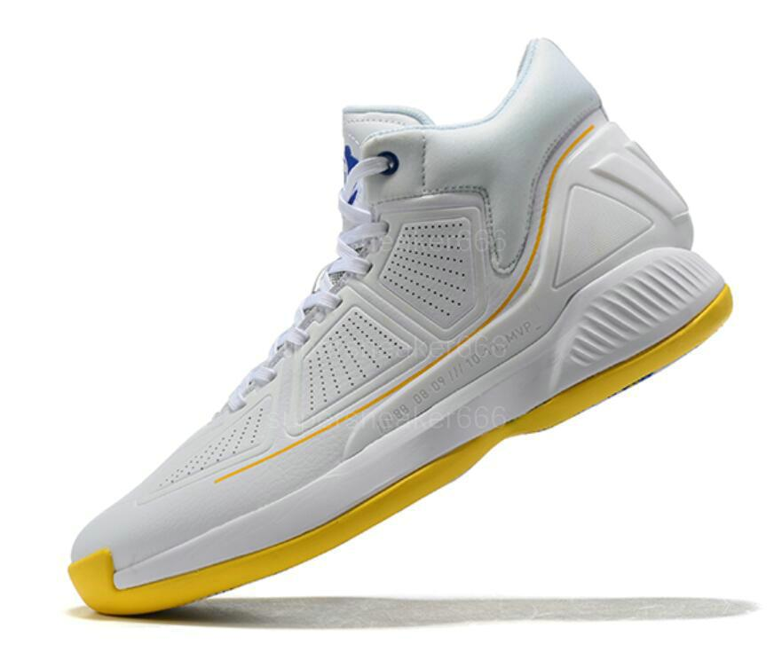Hommes 2020 D Rose 10 10s Chaussures de basket-ball Chaussures de sport Derrick Rose X Bounce Brown Hauts Bottes Baskets Chaussures 40-46 A38
