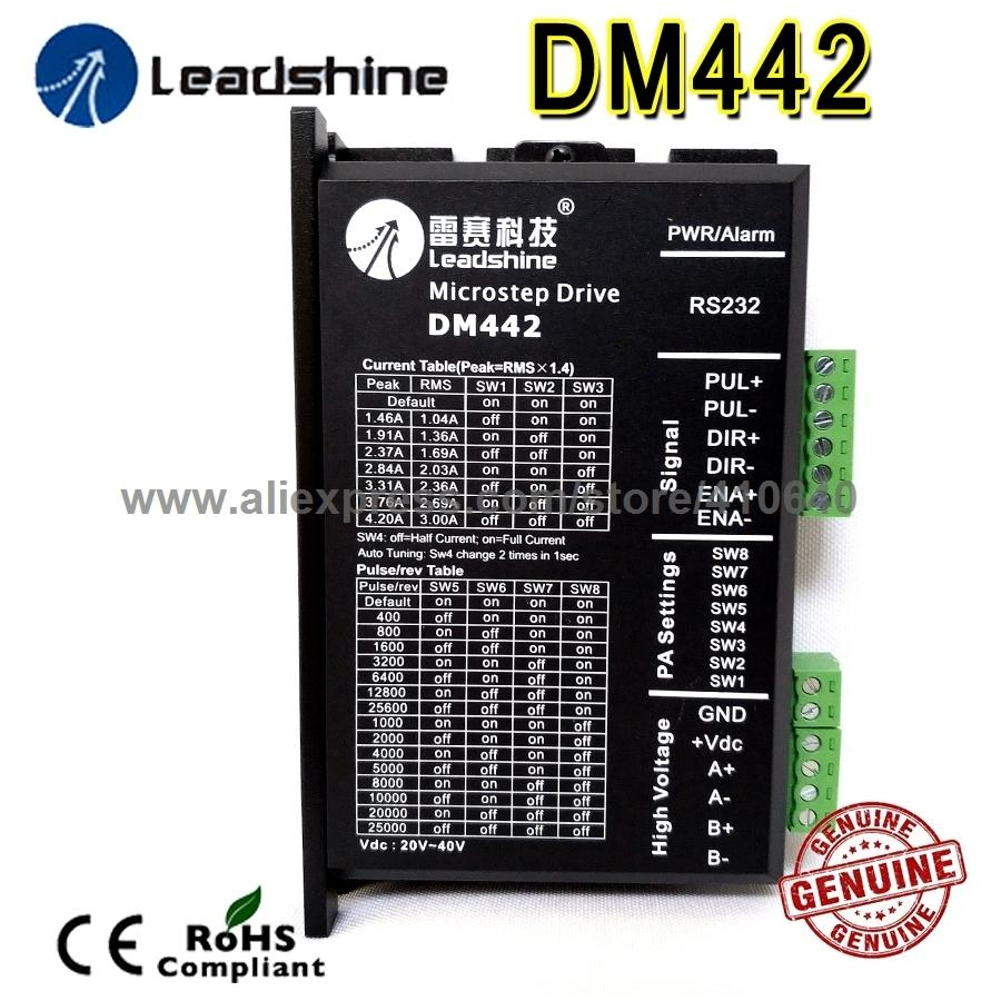 Leadshine DM442 2 Phase 32 Bit DSP Digital Stepper Drive with Max 40 V DC Input Voltage and Max 4.2 Output Current
