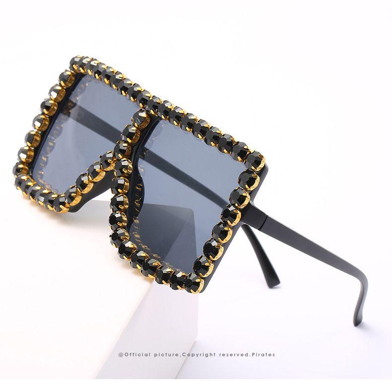 mulheres novo estilista luxtury quadro quadrado diamante óculos womens UV 400 protetora óculos de sol óculos de proteção óculos de sol occhiali vidro