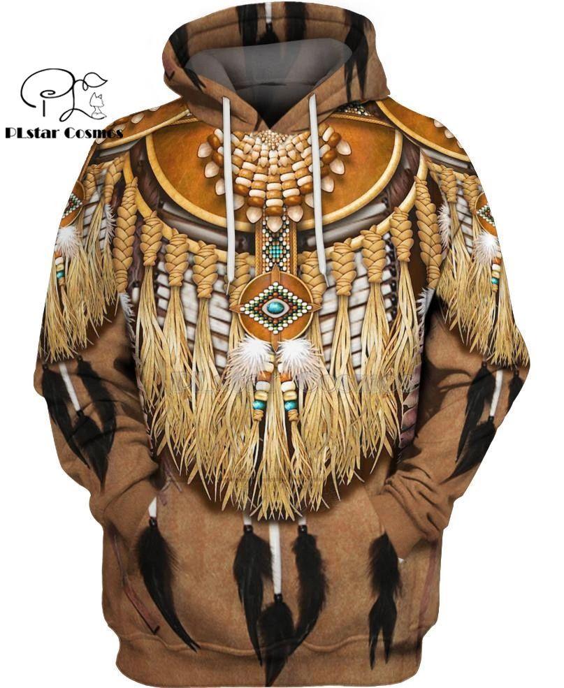 Indiano nativo 3D Hoodies / Sweatshirts T Homens Mulheres Nova Moda com capuz inverno Autumn manga comprida streetwear pulôver Style-6 Y200608
