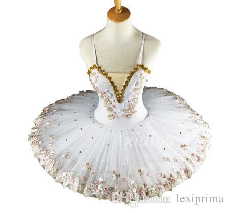 Weiß Professionelle Ballerina Ballett Tutu für Kinder Kinder Kinder Mädchen Erwachsene Pancake Tutu Dance Kostüme Ballettkleid Mädchen