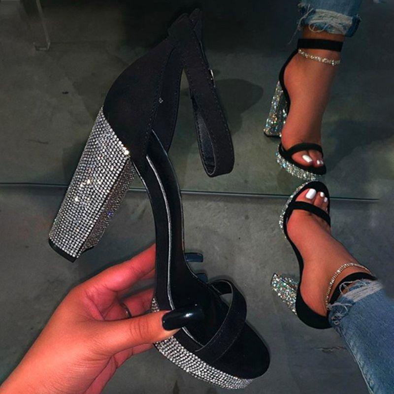 Été Sandales Femme Bling Mesdames Boucle Escarpins à bout ouvert sandales Feamle mode Chaussures plateforme Casual Drop Ship