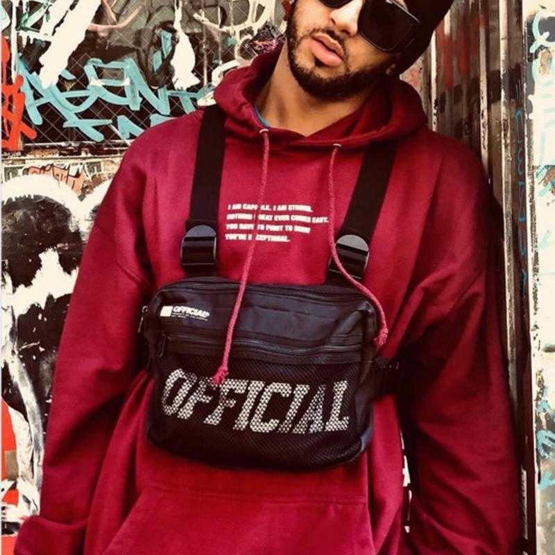 Street Männer Tasche Tactical Vest Hip Hop Style Umhängetasche Brusttaschen Packs für Frauen 2019 Mode punck Chest Rig Weste Hüfttasche