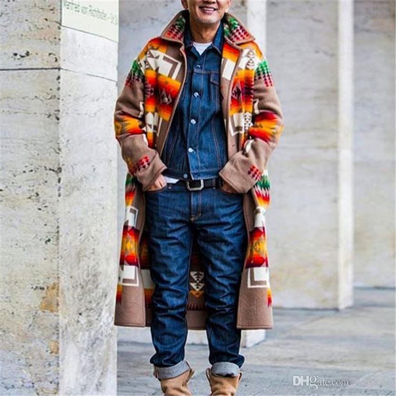 Inverno Mens Designer moda giacche casual stampato risvolto del manicotto lungo allentato della tuta sportiva Nuovo arrivo caldo Gentlemen Coats