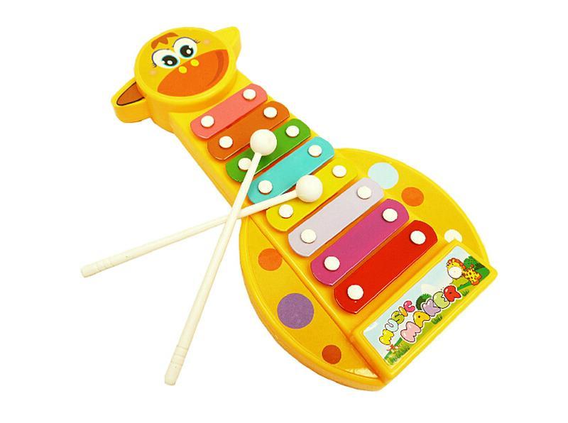 23cm Cute Giraffe Xylophone Schlaginstrument Music Box-Kind-Baby Montessori Early Education Spieluhr LA332 DHL-freies Verschiffen
