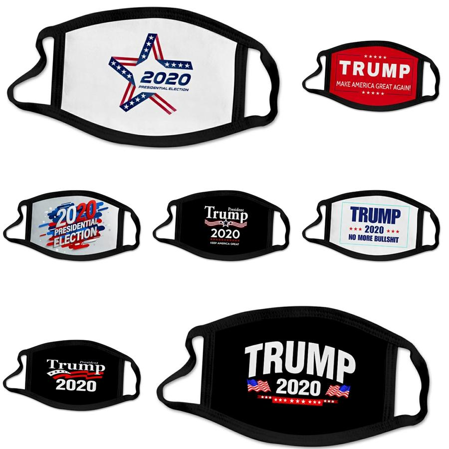 Em estoque! Máscara lavável reutilizável Designer Trump face frete grátis dentro de 24 horas máscaras de proteção # 395