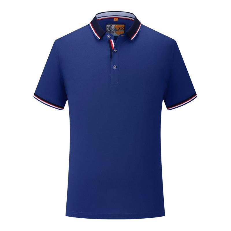 Young men's high-end silk cotton striped short-sleeved breathable moisture is not easy to deform Sapphire Polo Shirt SD-1892-158