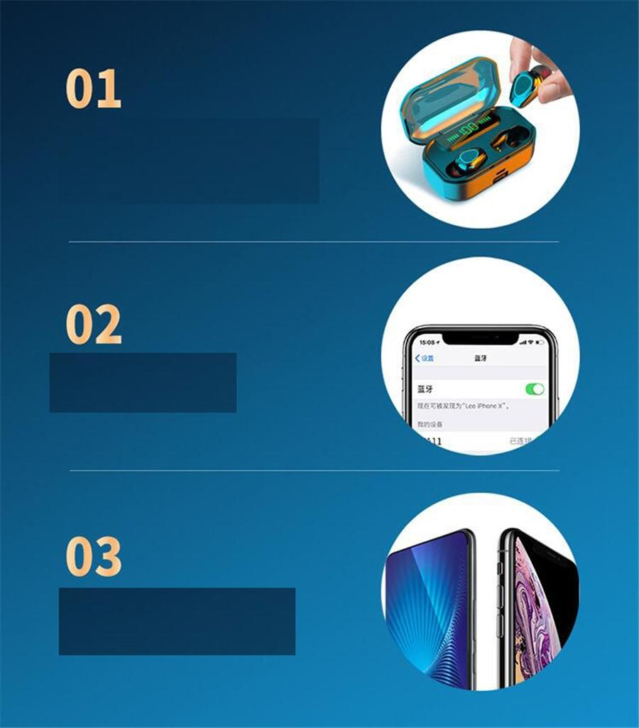 Mostra auricolare auricolari LED H6 TWS Wireless 5.0 Wireless Auricolari Vita auricolare Bluetooth impermeabile con microfono meglio di A6S e e6s # OU558