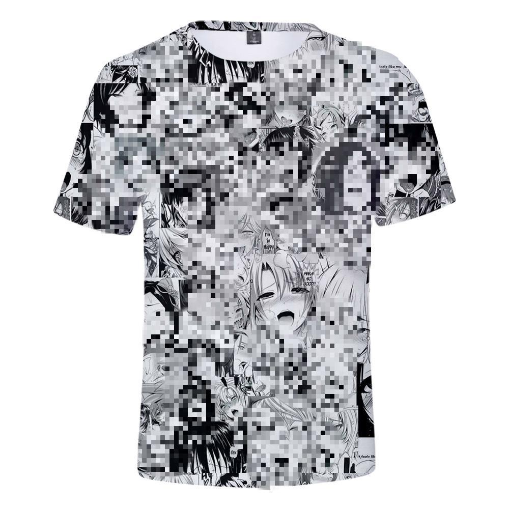 Ahegao 3D футболка лето 2019 аниме топ с коротким рукавом мода футболки хип-хоп с короткими рукавами весело случайные футболки для мужчин / женщин T200224