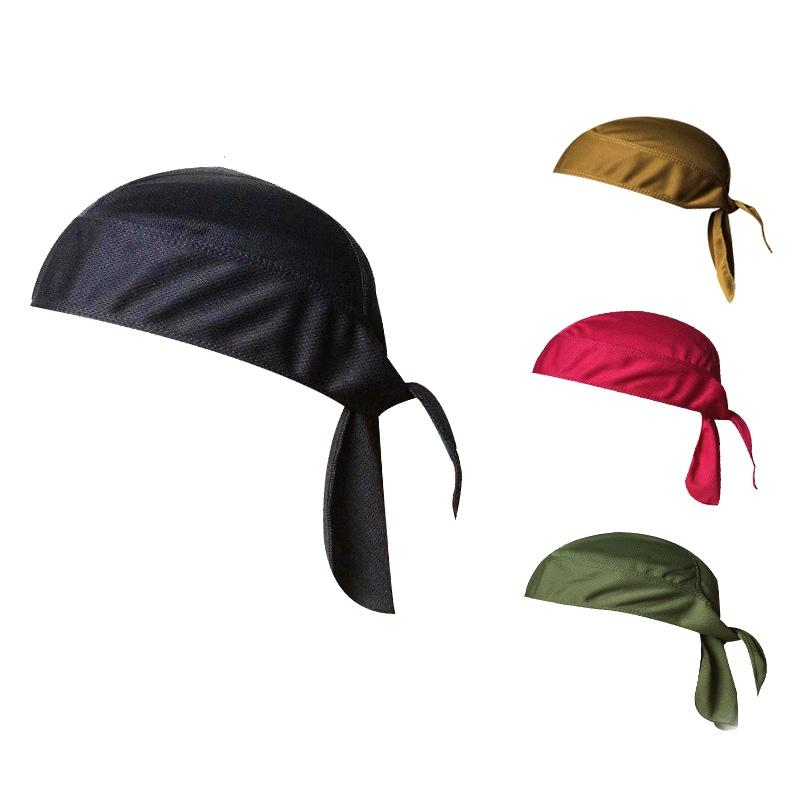 Bicycle Outdoor Cycling Cap Pirate Hat Breathable Headband Solid Color quick-drying Wicking Sunscreen Sports Hood 11 Colors NEW!