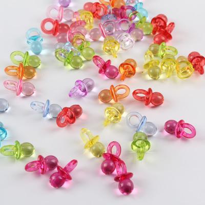 50PCS Mini-Kunststoff-Schnuller Nipple Perlen Acryl-lose Korn-DIY Herstellung Spielzeug-Kuchen-Dekoration ewelry Zubehör billig Großverkauf DHL