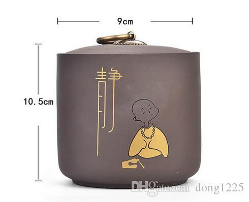 Kung Fu chino té Caddies recipiente de cerámica arena Teaset accesorios jarra de té latas caja para el hogar o la oficina Teaware un