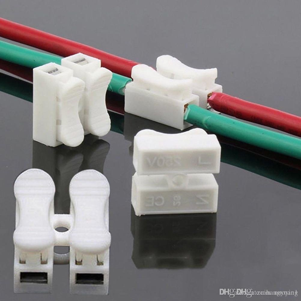 30pcs / lot بالجملة السريع وصلة قفل أسلاك موصلات CH2 2Pins الكابلات الكهربائية محطات 20x17.5x13.5mm