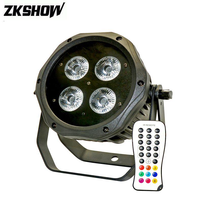 80% Discount Lumiere 4*15W Battery Power Wireless DMX Par Light IP65 Vuurwerk DMX 512 DJ Disco Party Stage Lighting Projector