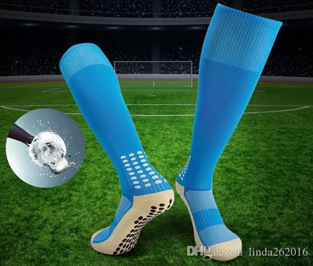 Nuovo stile antiscivolo Calze Vitello protettivo antiscivolo calcio calcio sport calzini Sweat Guaid traspirante Unisex Uomini Donne