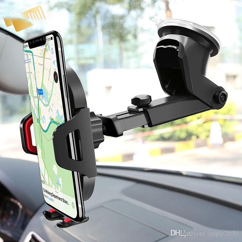 الزجاج حامل الهاتف الجاذبية المصاص سيارة للحصول على X 11 برو حامل للحصول على الهاتف داخل السيارة دعم الهاتف الذكي الحنطور حامل